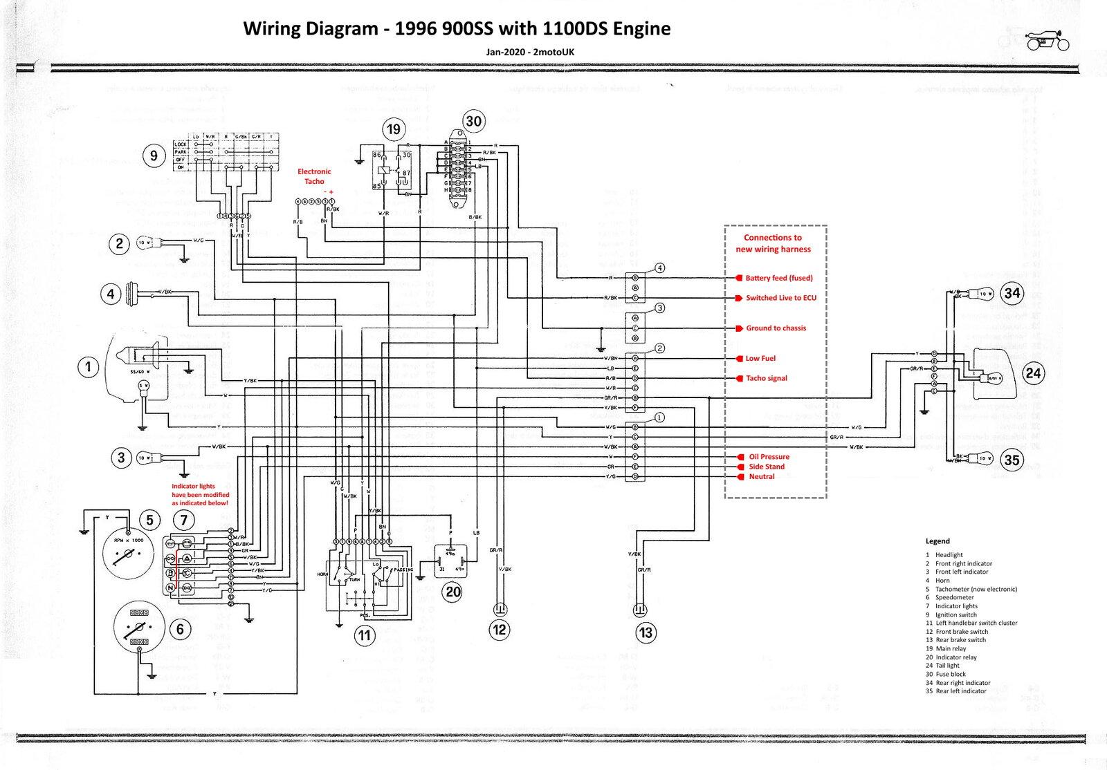 Monster 1100 Engine In 900ss Frame