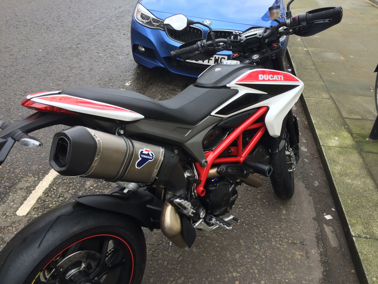 for sale high termignoni exhaust for hypermotard 821 slip on ducati forum. Black Bedroom Furniture Sets. Home Design Ideas