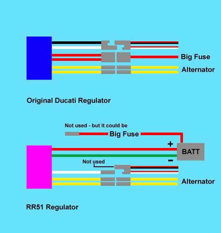 ducati regulator wiring diagram intermittent battery charging light ducati forum  intermittent battery charging light