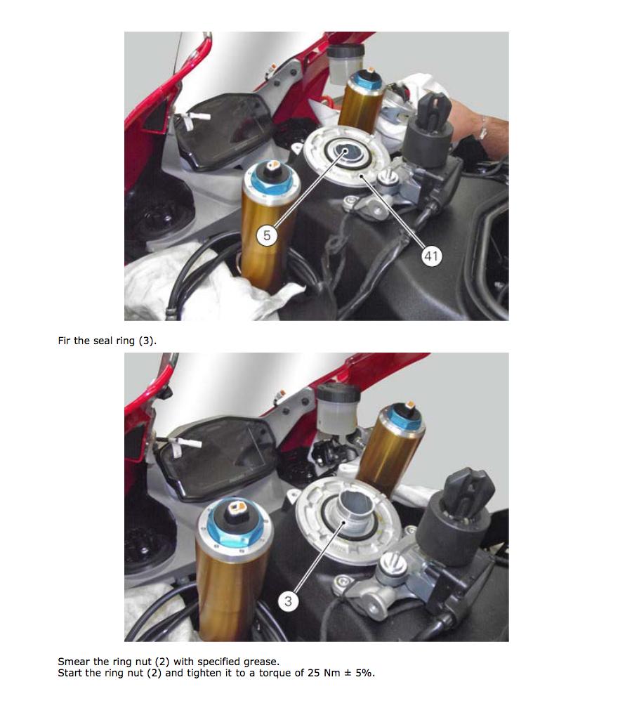 Torque Setting On Head Race Yoke Installation 1199s   Ducati