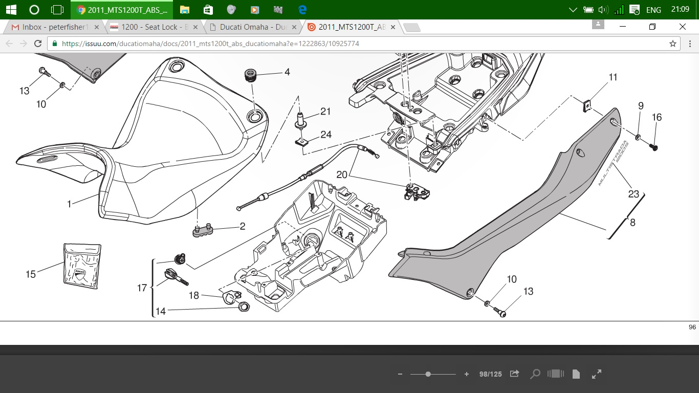 1200 seat lock barrel removal ducati forum ducati 999 wiring diagram