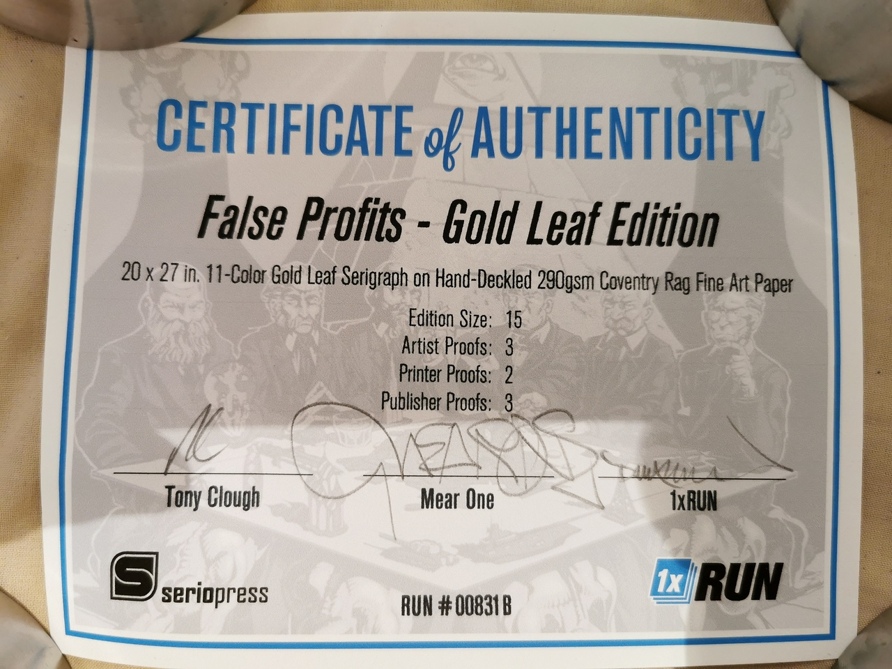 Gold leaf false profits certificate