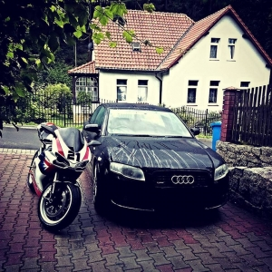 My 848 and my Audi