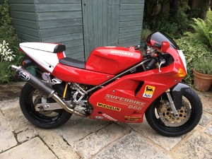 888 Strada just before restoration started - Now with shiny rebuilt engine photos